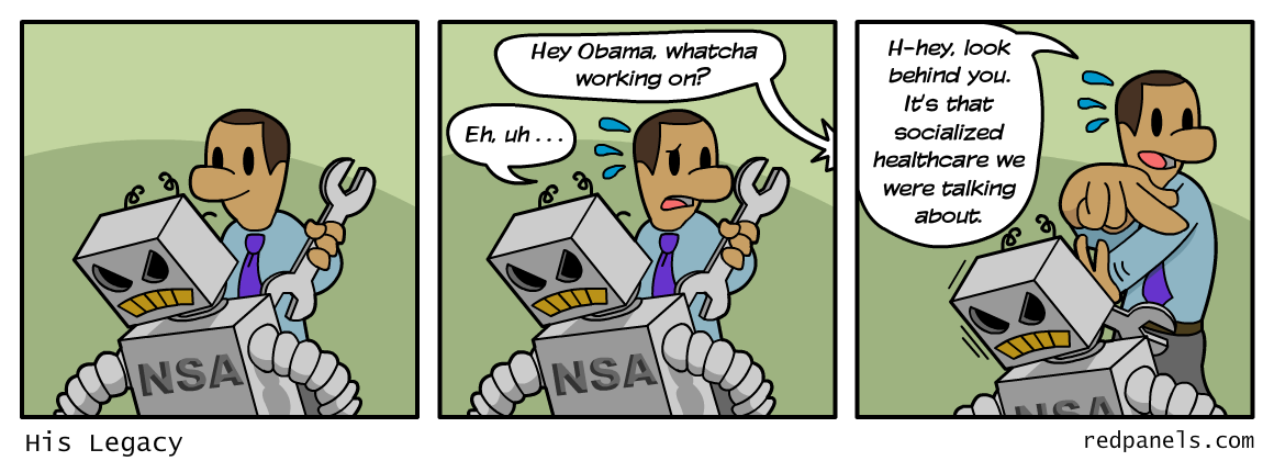 Obama NSA comic