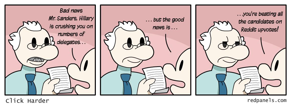 Bernie Sanders Reddit comic