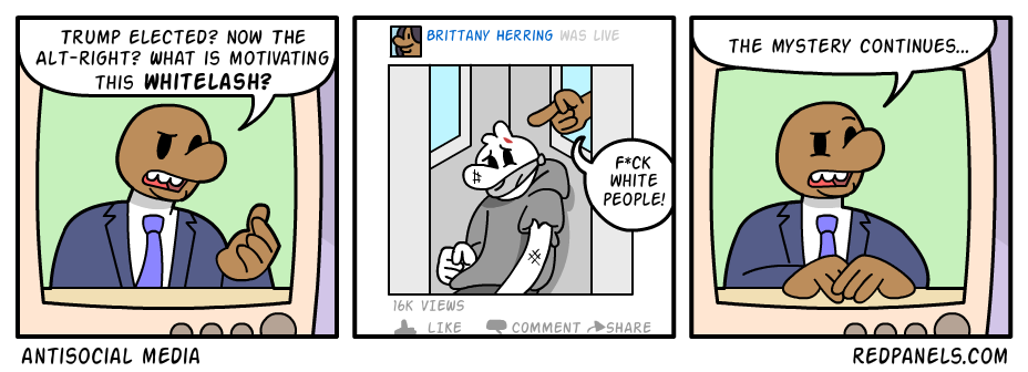 A comic about black lives matter kidnapping and beating up white people.