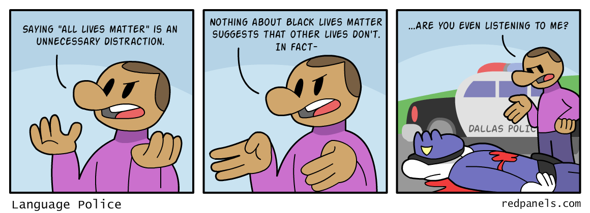 A comic about Black Lives Matter and the shooting 