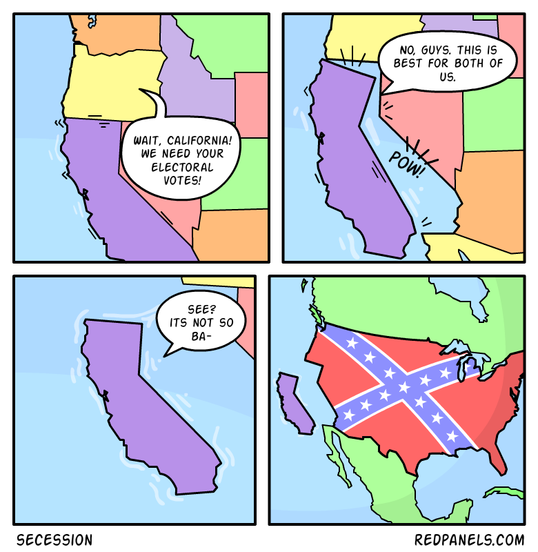 A comic about Californian secession.