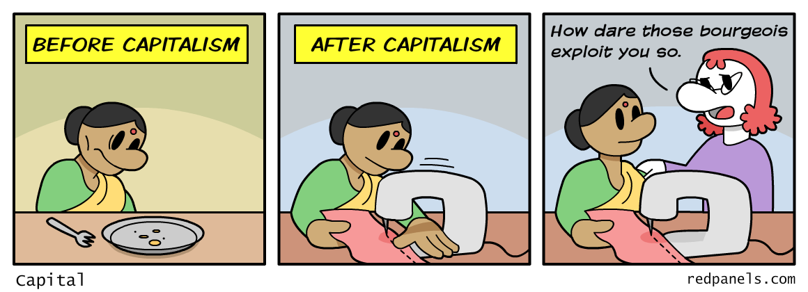capitalism exploitation comic