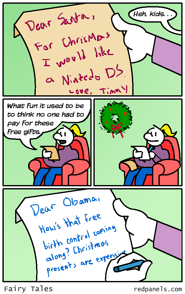 Christmas wishlist birth control comic