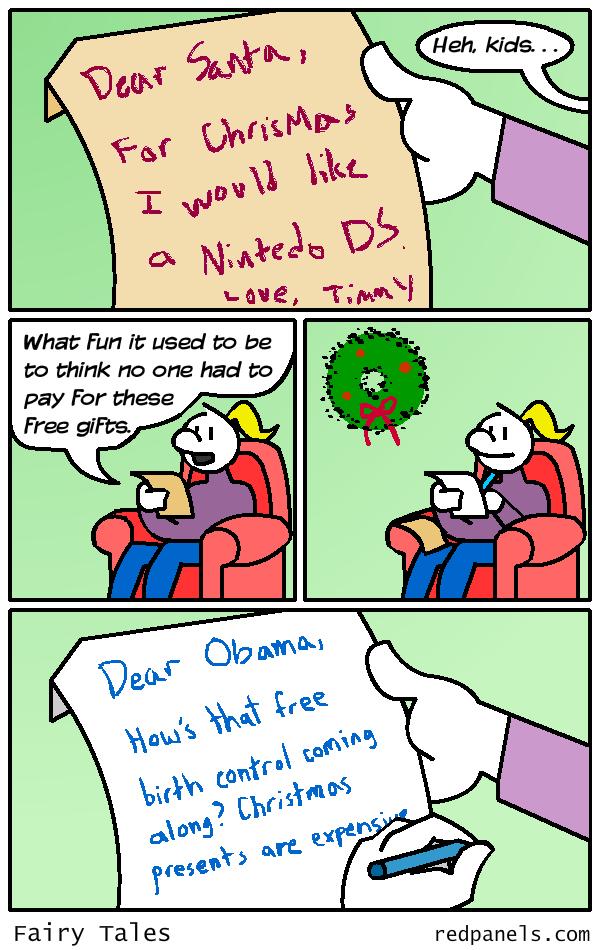 Christmas wishlist birth control comic