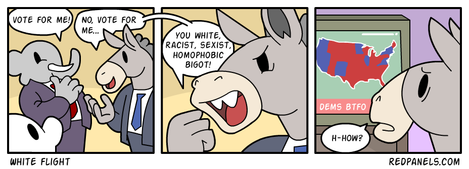 A comic about Democrats hating white people.