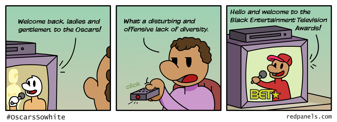 #OscarsSoWhite comic