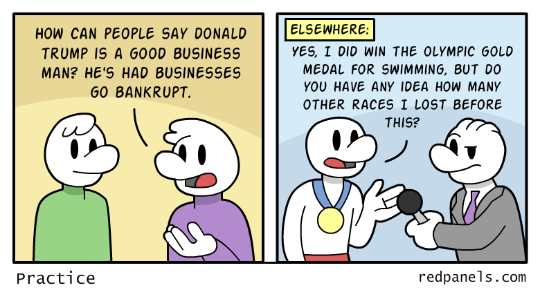 A comic discussing Donald Trump