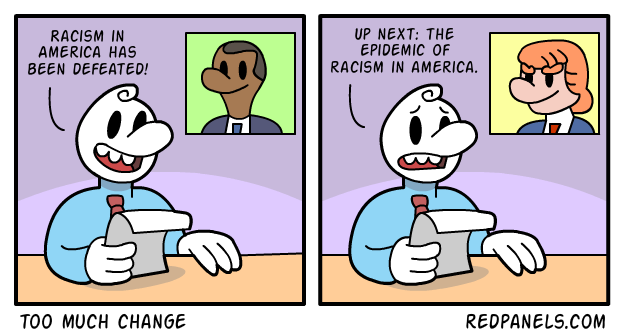 A comic the US election and racism.