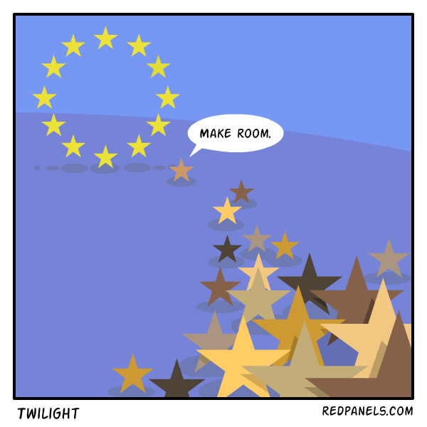 A comic about immigration to the European Union.