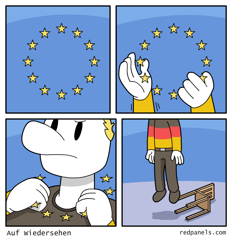 European Union and Germany comic