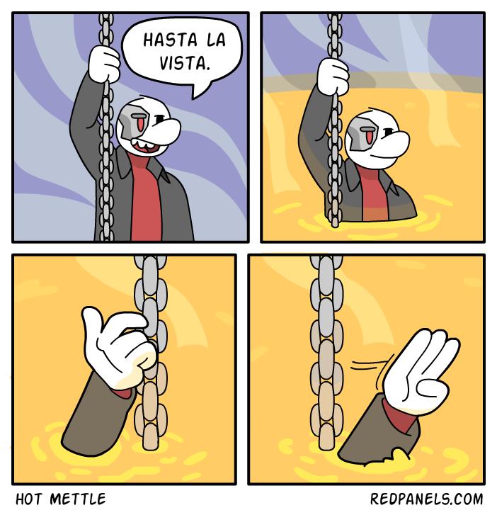 A farewell comic.