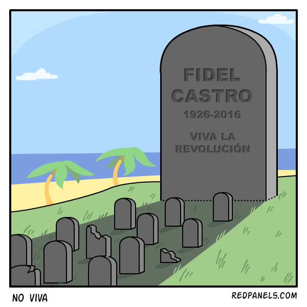 A comic about the death of Fidel Castro.
