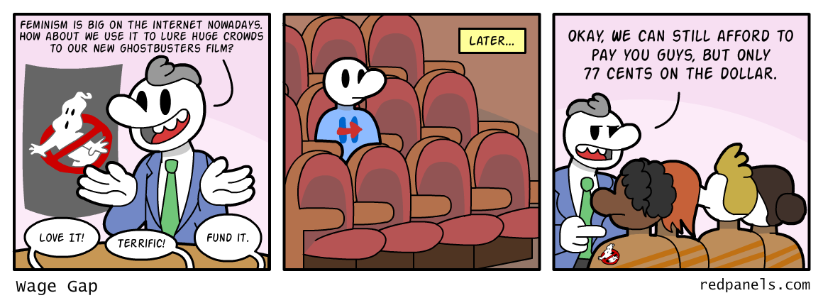 A comic about the unpopularity of the new Ghostbusters movie.