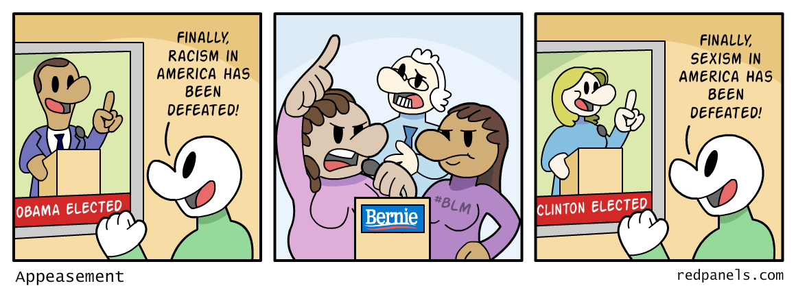 A comic about identity politics.