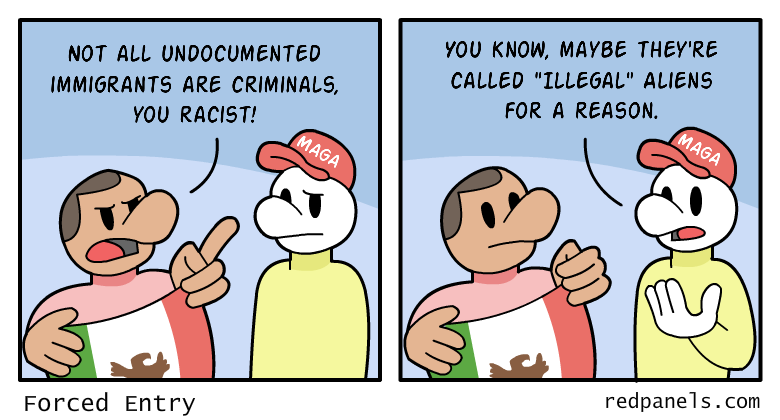A comic about illegal immigration.