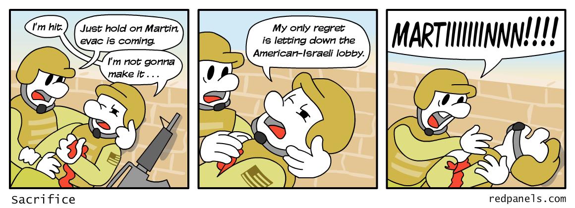 Israeli lobby comic