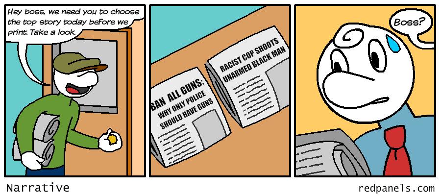 liberal media narrative comic