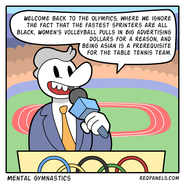 A comic about political correctness and the Olympics.