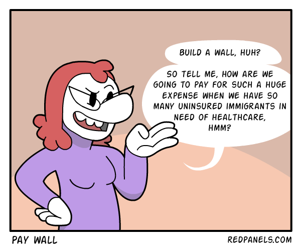 A comic about how to pay for the border wall.