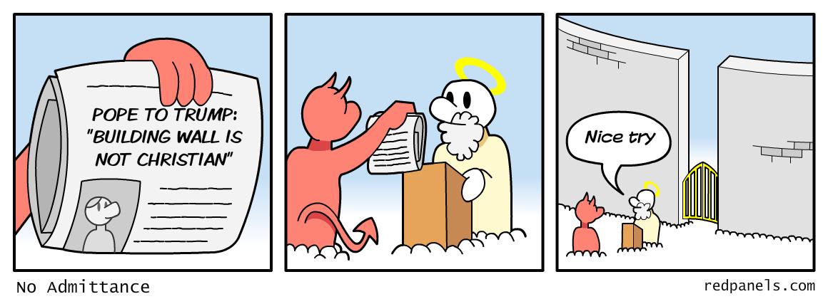 Pope Trump comic