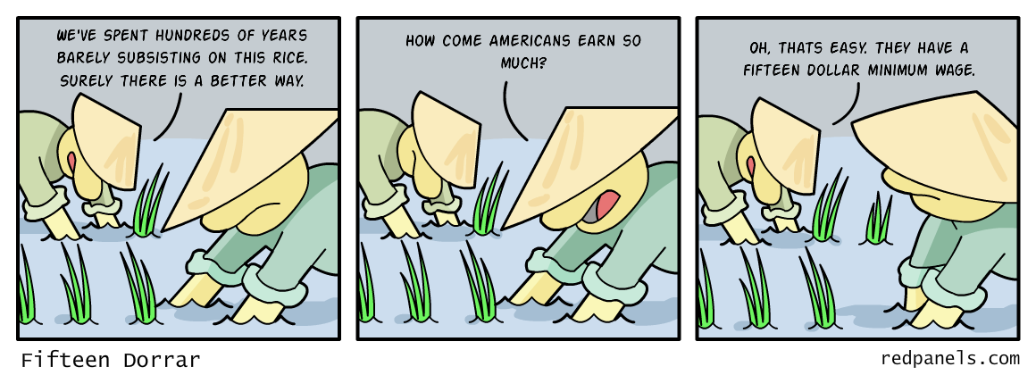 Third world minimum wage comic