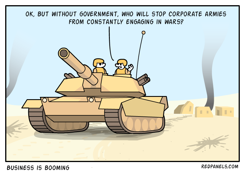 A comic about private armies.