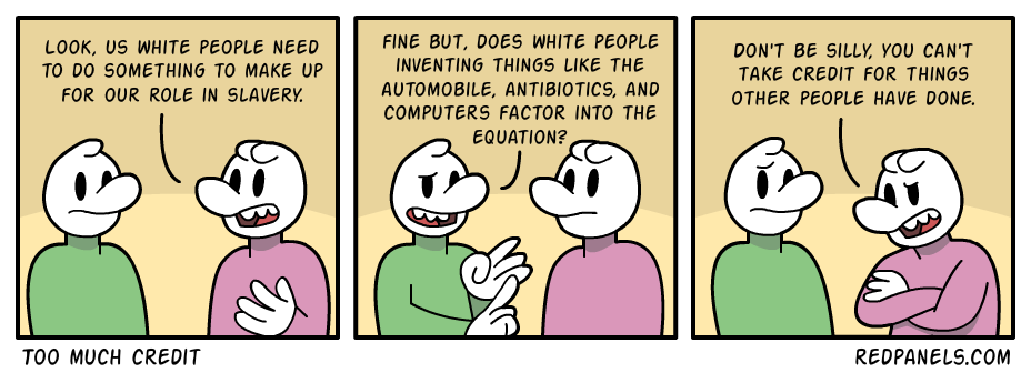 A comic about white guilt and white pride.