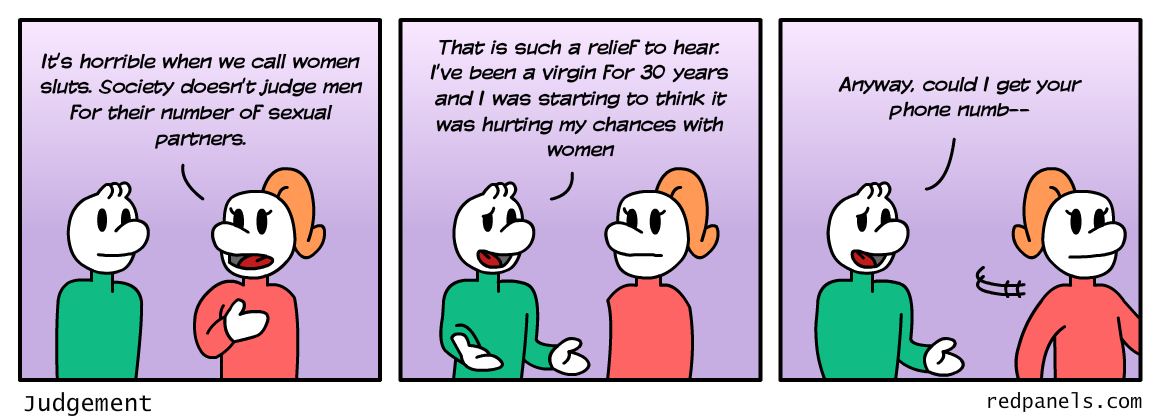 Sluts and virgins comic