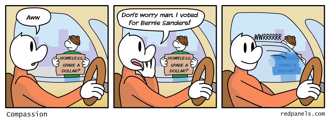 socialism and compassion comic