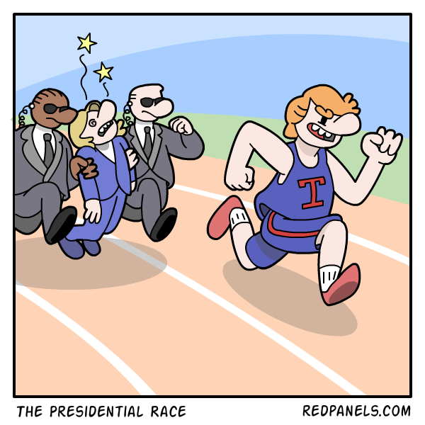 A comic about how Hillary Clinton is unfit to run in the presidential race.
