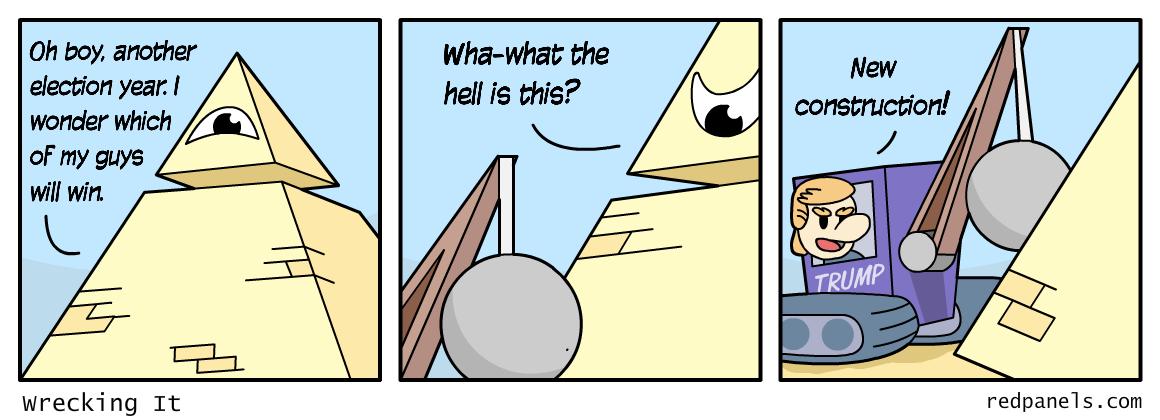 Trump vs. Establishment comic