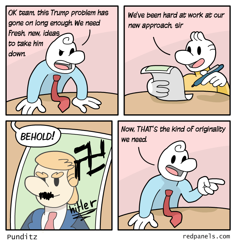 Trump Hitler comic
