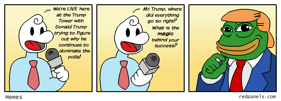 Trump and Pepe the frog comic
