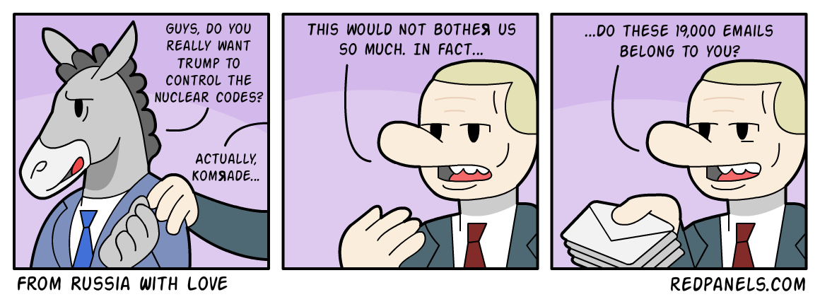 A comic about Democrats accusing Trump of being a 