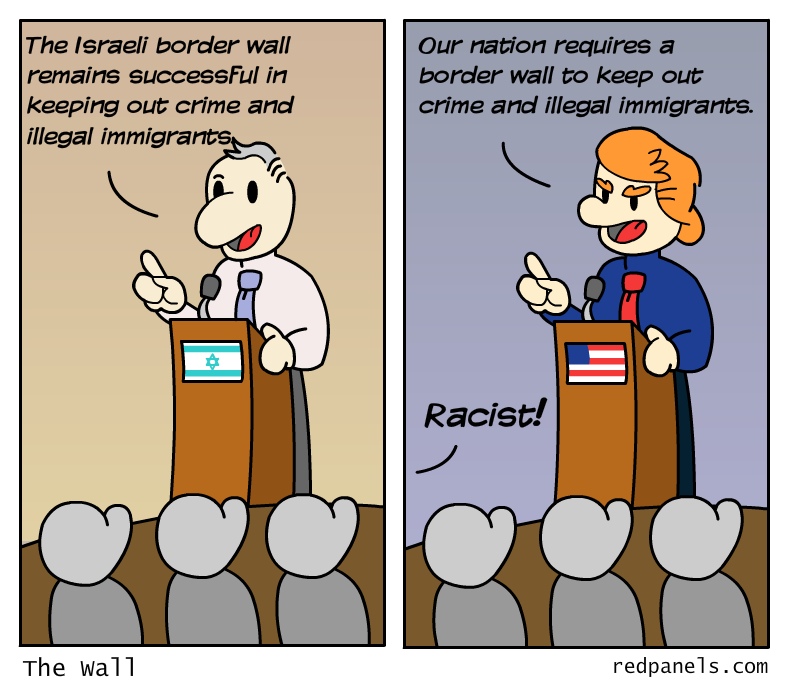 Trump wall comic
