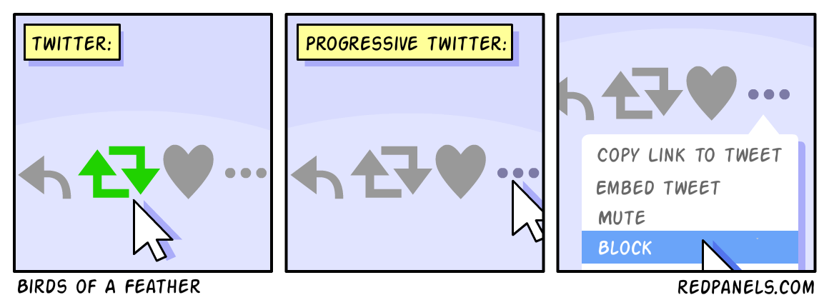 A comic about twitter censorship.