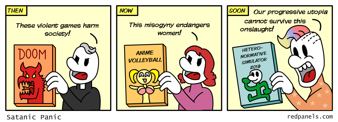 video game censorship comic