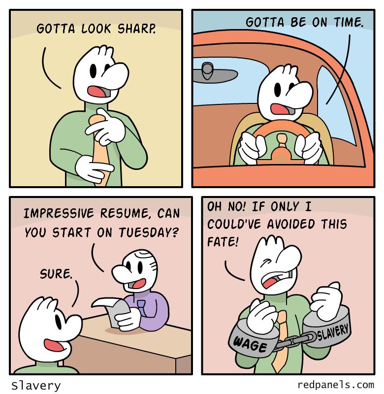 wage slavery comic