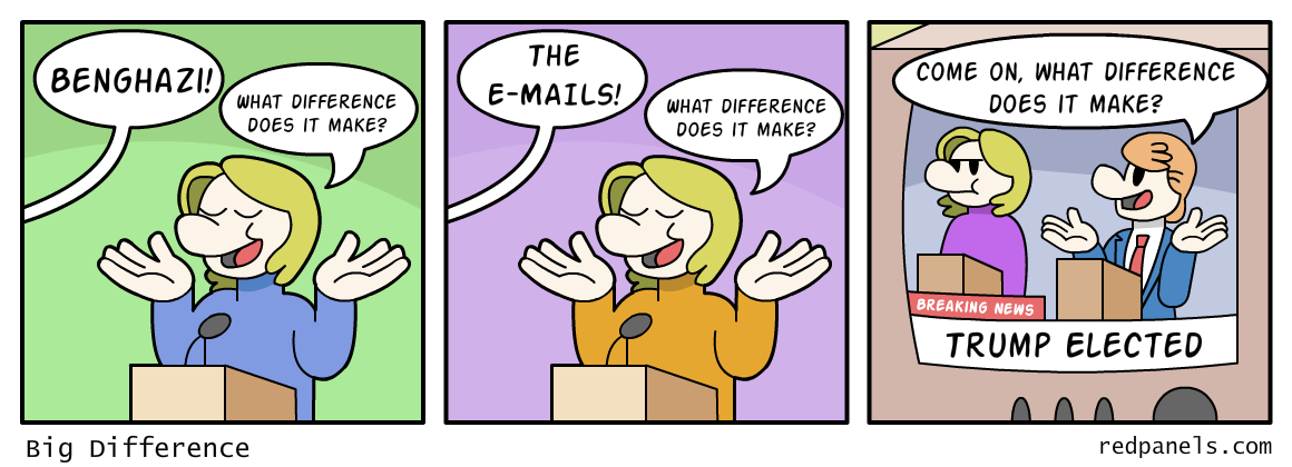 A comic referencing Hillary